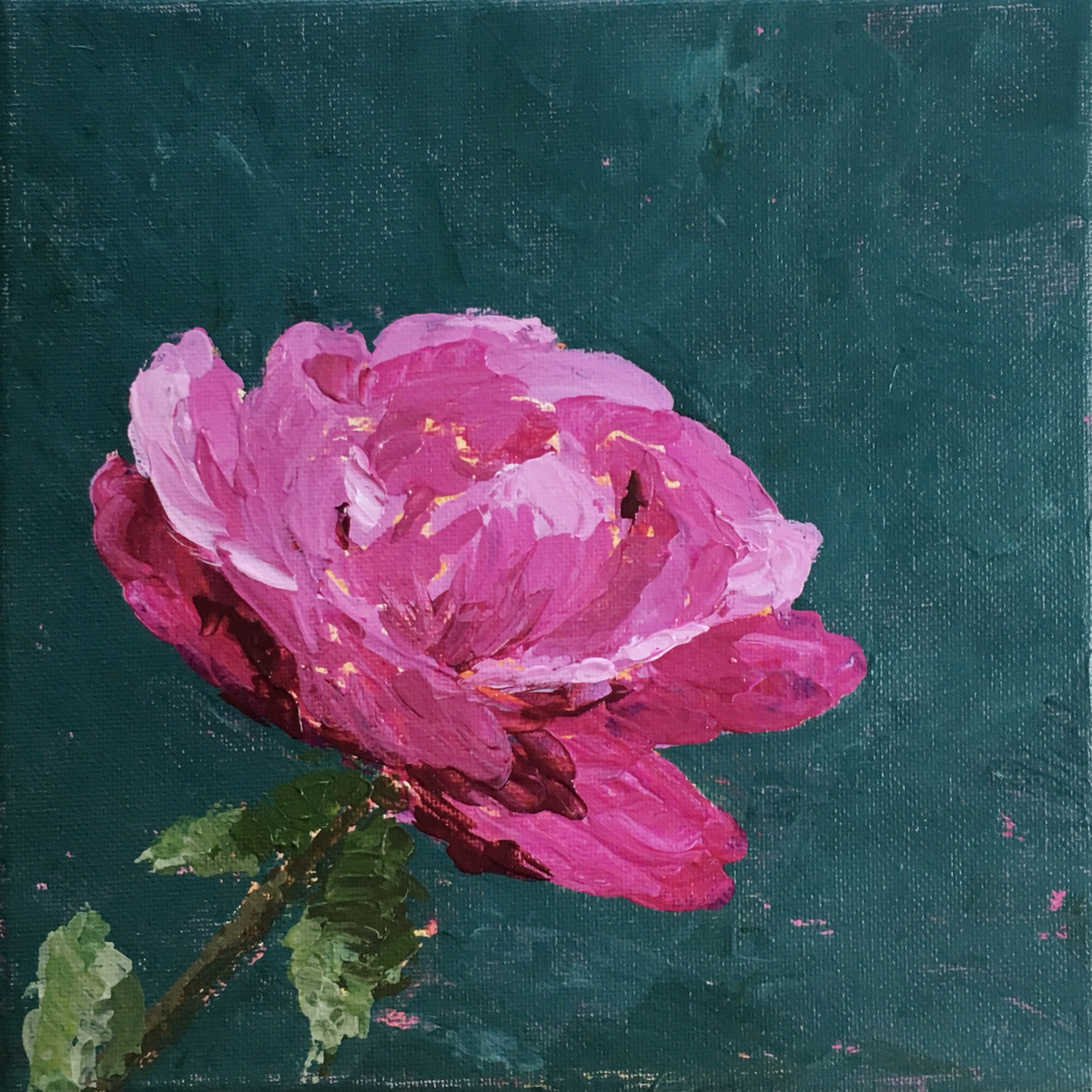 Acrylic painting of a rose flower.