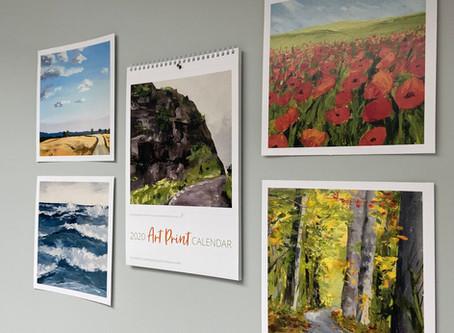 2020 art print calendar