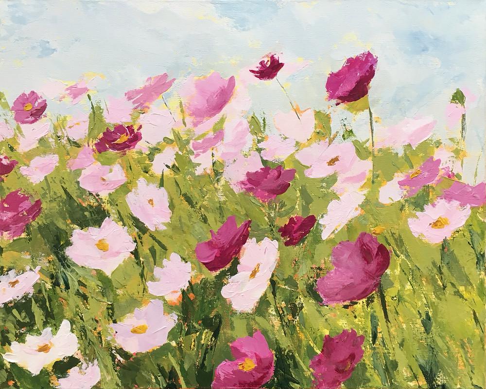 Summer Breeze - acrylic painting