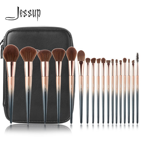 Jessup 18pc Synthetic Makeup Brush Set