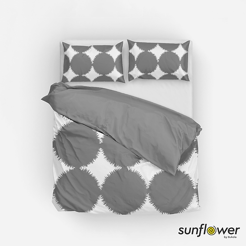 Grey circles Duvet Cover Set