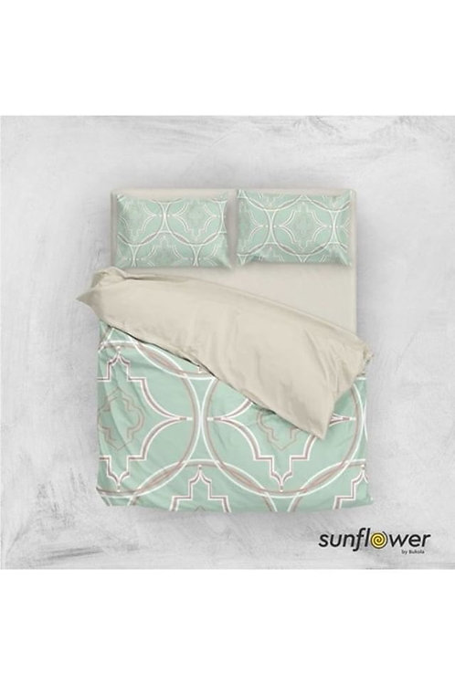 Geo Trellis pattern duvet cover set