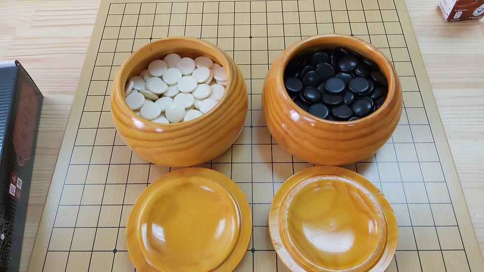 圍棋木盒,一對