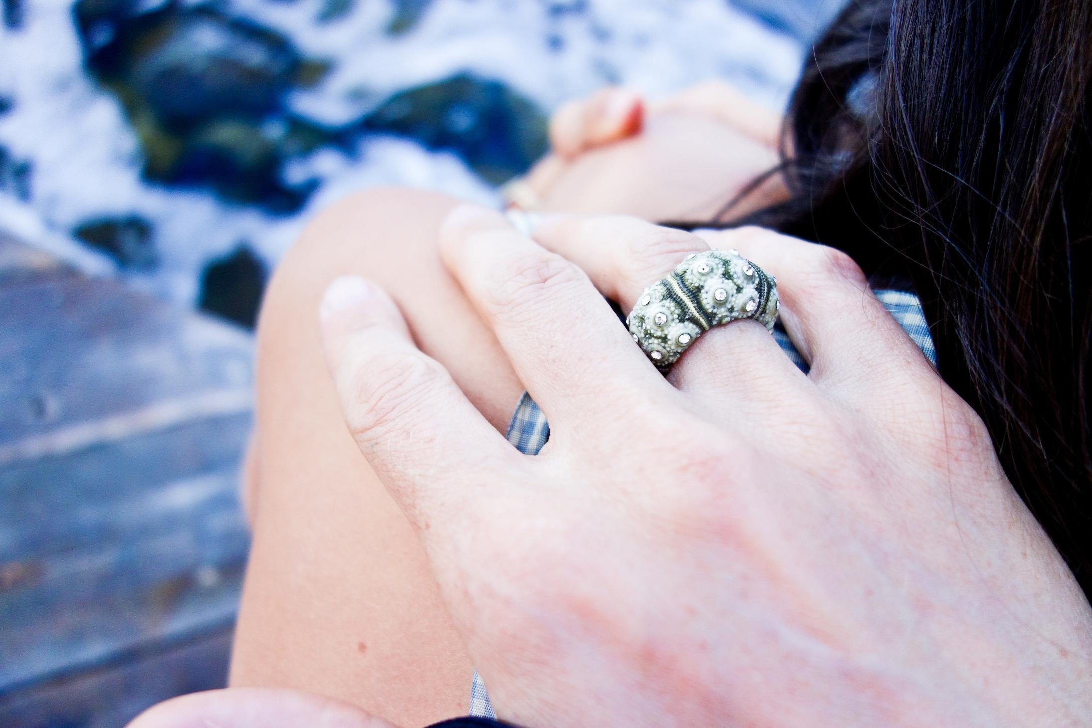 Moss Velvet ring