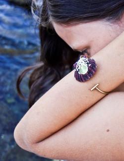 Purple Dragon Cuff - Prehnite