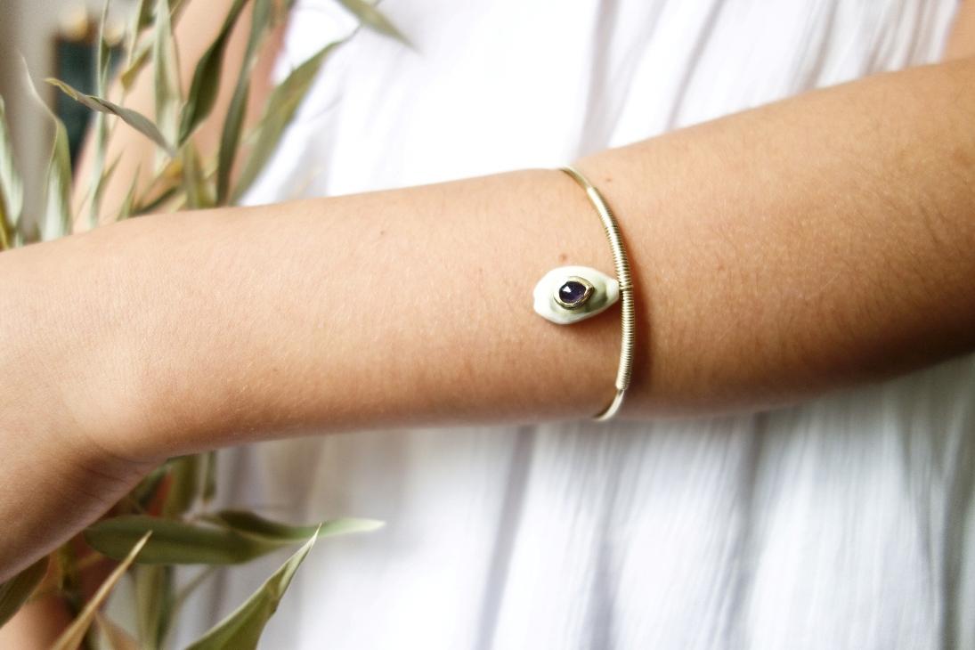 Byzantine bracelet - Iolite