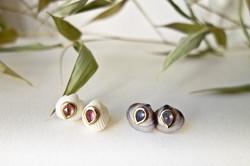 Blue & White Venus post earrings