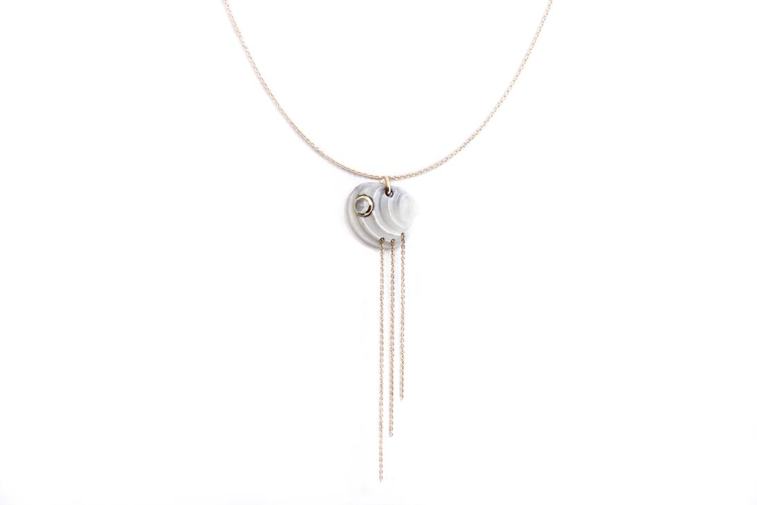 Aqua necklace - Aquamarine