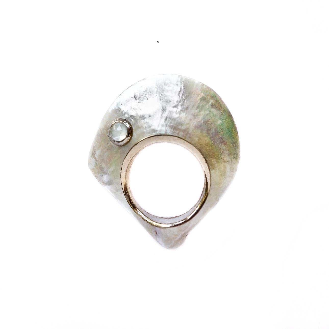 Aqua ring - Aquamarine