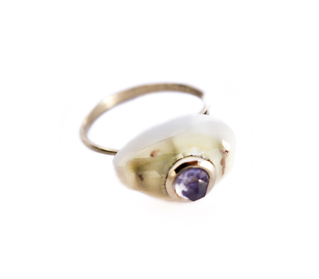 Byzantine Blue ring - Iolite