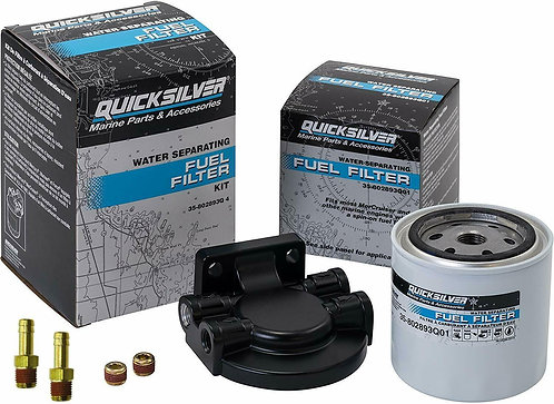 Quicksilver Water Separating Fuel Filter Kit with connectors