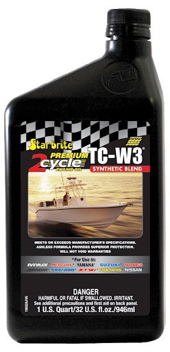 Premium 2-Cycle TCW3 Outboard Oil 1USQ