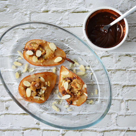 Caucasus Baked Pears with Rose Syrup