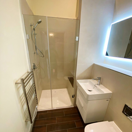 Mr & Mrs H. Shower Room in Bath