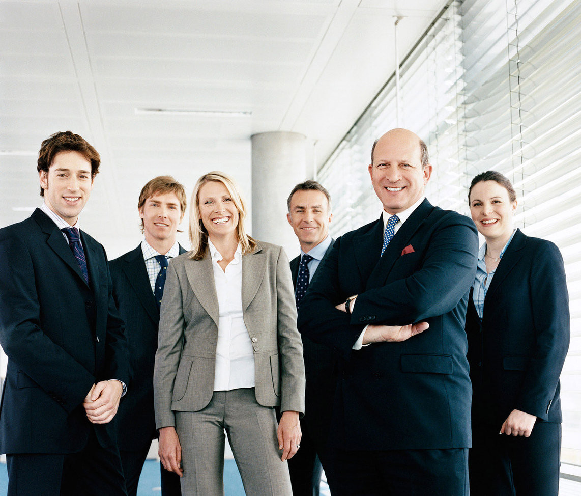 Commercial business staff portrait
