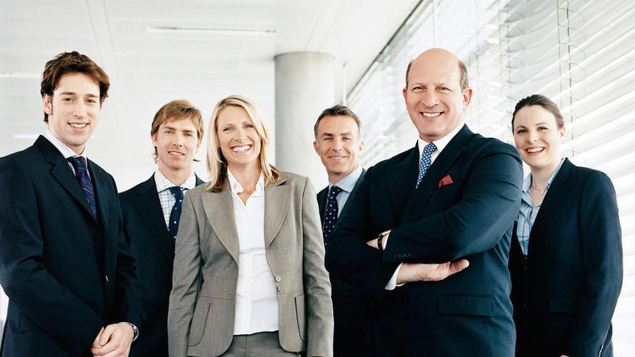 Commercial business staff portrait