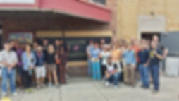 Lear Corporation volunteers at the historic Alger Theater in Detroit