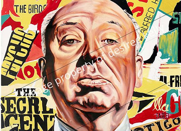Desiree Kelly Print - Alfred Hitchcock