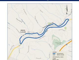 Millers Run Road bridge closure and detour to start May 2
