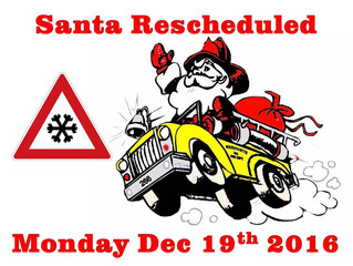 Santa Rescheduled Due to Current Weather Conditions