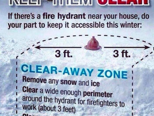 Please clear Your Fire Hydrants