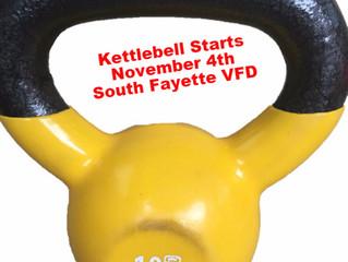 Kettlebell Sessions start November 4, 2015 at 7pm