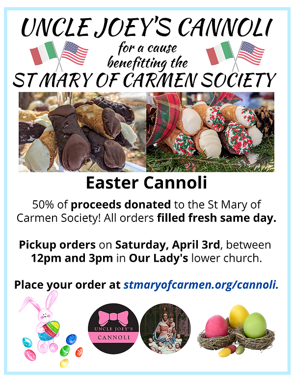Uncle Joeys Cannoli for a Cause Easter