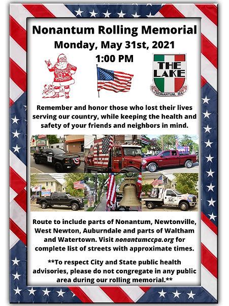 Nonantum Newton Memorial Day 2021
