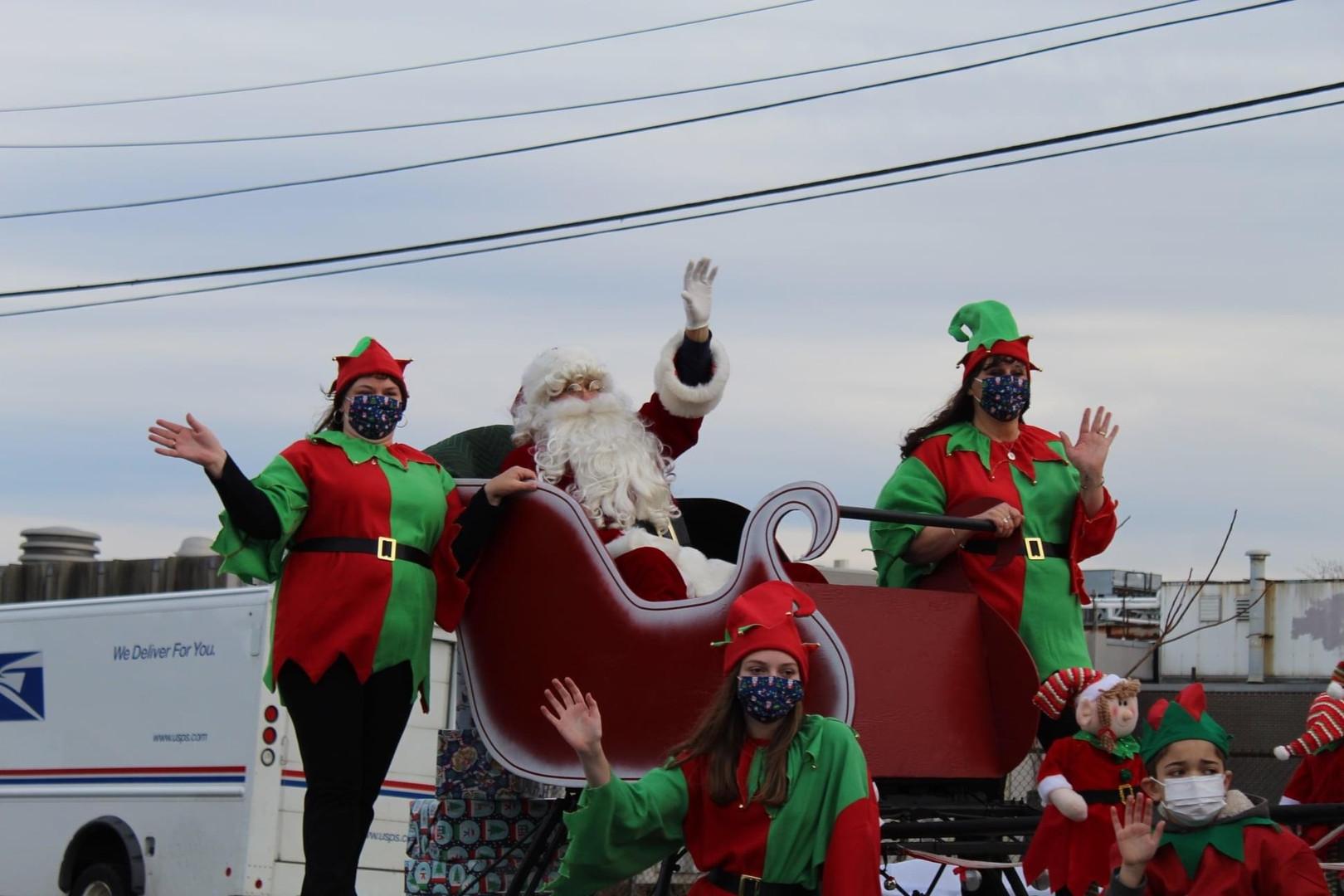 Santa and his elves.