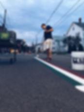 Painting Italian flag street lines newton