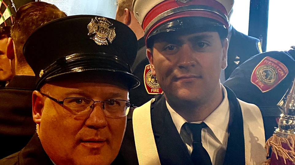 Society members, who also serve the community as members of the Newton Fire Department, attended the funderal of Lt Menard on Monday 11/18/19.