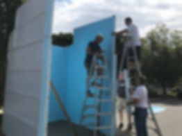 Chapel building pellegrini park nonantum festival
