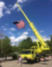 Royer Tree Service provided a crane and flag at the start of the parade.