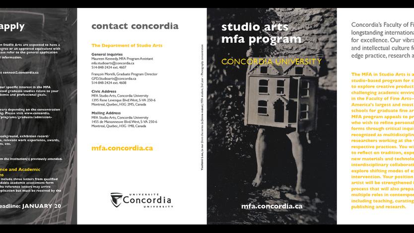 Studio Arts MFA Program Brochure