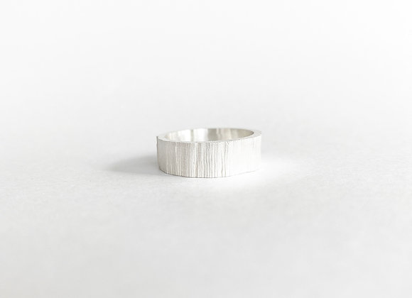 ring . SILVER WOOD . 53/7