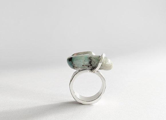 ring . SILVER WOOD . Quantum Quattro