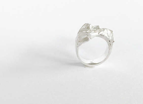 ring . SILVER FABRIC . 54/7