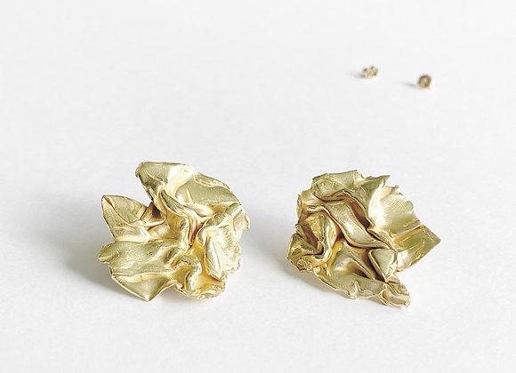 oorbellen . GOLDEN FABRIC . rond . M