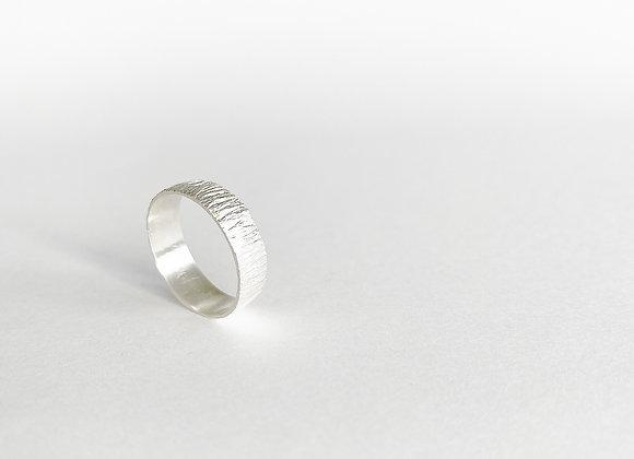 ring . SILVER WOOD . afgerond