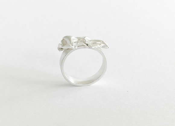 ring . SILVER FABRIC . 53/4