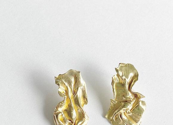 oorbellen . GOLDEN FABRIC . lang . M