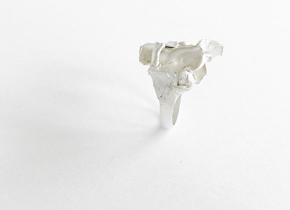 ring . SILVER FABRIC . 56/3