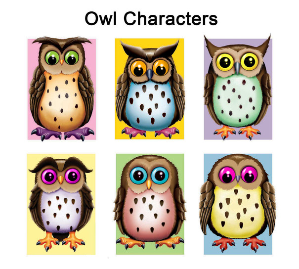 Owl Character Designs