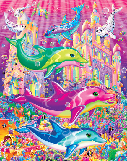 Dolphin Castle Illustration. (This was used for a variety of merchandising projects)