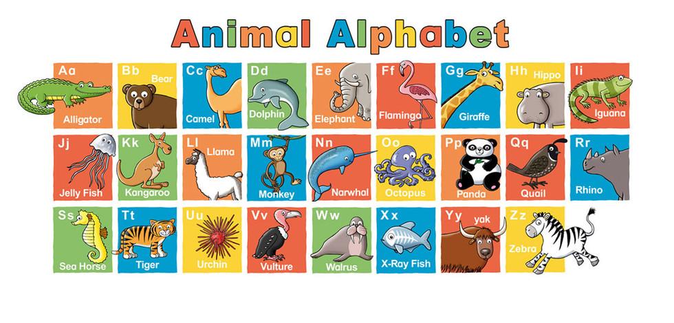 Animal Alphabet Wall Chart