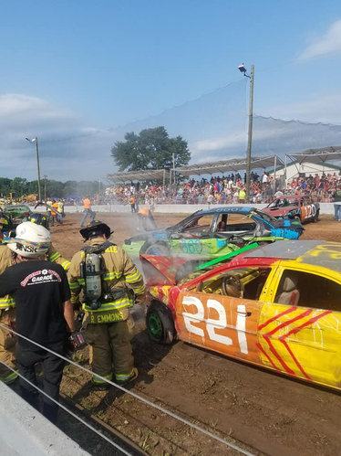 Demolition Derby! Photo courtesy of Pat Daigle, 2018.