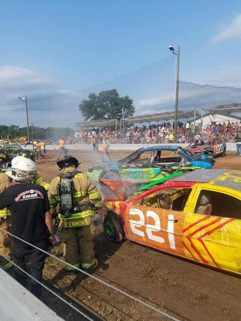 Demolition Derby! Photo courtesy of Pat Daigle, 2018.