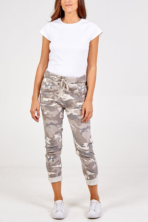 Magic Trousers - Stone Camouflage Print