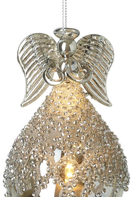 Hanging LED Glass Angel