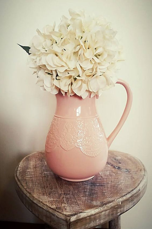 Soft Pink Lace Effect Jug